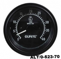 DURITE<br>12/24V Alternator Pick-up Tachometer <BR>-0-4000RPM<BR>ALT/0-523-70
